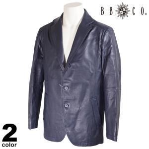 セール 30%OFF BBCO ビビコ レザー テーラードジャケット メンズ 2020秋冬 羊革 ストライプ ロゴ 08-4004-12|realtree