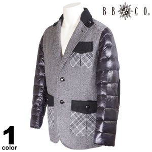 セール 30%OFF BBCO ビビコ ダウンジャケット メンズ 2020秋冬 チェック 内ポケット付き ロゴ 08-4152-12|realtree