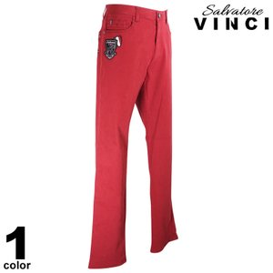 VINCCI ヴィンチ デニムパンツ メンズ 2020秋冬 ステッチ ロゴ 刺繍 ワッペン 08-5303-09b|realtree