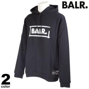 セール 30%OFF BALR. ボーラー 長袖 トレーナー メンズ 2020秋冬 フード付き ワッペン ロゴ 08-6502-52|realtree