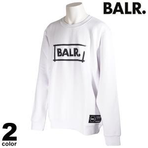 セール 30%OFF BALR. ボーラー 長袖 トレーナー メンズ 2020秋冬 クルーネック ワッペン ロゴ 08-6503-52|realtree