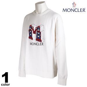 セール 20%OFF モンクレール MONCLER トレーナー メンズ 2020秋冬 クルーネック 刺繍 ロゴ 08-6506-80|realtree