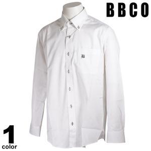 BBCO ビビコ 長袖 カジュアルシャツ メンズ 2021春夏 ストライプ ボタンダウン ロゴ 11-1106-01|realtree
