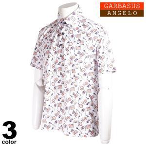 ANGELO GARBASUS アンジェロ ガルバス 半袖 ポロシャツ メンズ 2021春夏 総柄 ロゴ 11-2821-03|realtree