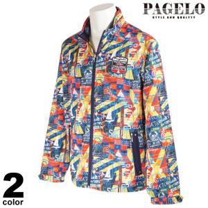 PAGELO パジェロ メッシュブルゾン メンズ 2021春夏 総柄 ワッペン ジップアップ ロゴ 11-3102-07|realtree