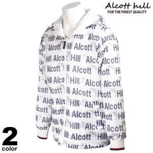 ALCOTT HILL アルコットヒル 長袖 メッシュパーカー メンズ 2021春夏 総柄 フード付き ロゴ 11-3105-10|realtree