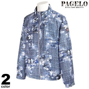 PAGELO パジェロ 長袖 ブルゾン メンズ 2021春夏 総柄 フルジップ 裏地メッシュ ロゴ 11-3126-17|realtree