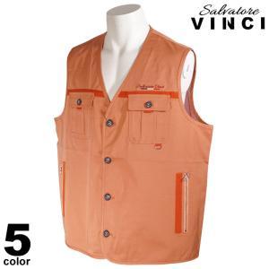 VINCCI ヴィンチ ベスト メンズ 2021春夏 無地 刺繍 ロゴ 11-3503-09|realtree