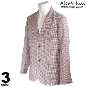 ALCOTT HILL アルコットヒル テーラードジャケット メンズ 2021春夏 チェック柄 花柄 ロゴ 11-4101-10|realtree