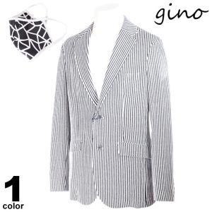 gino ジーノ 長袖 ブルゾン メンズ 2021春夏 ストライプ マスク付き ロゴ 11-4102-02|realtree