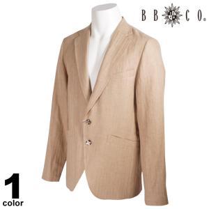 BBCO ビビコ テーラードジャケット メンズ 2021春夏 麻 ロゴ 11-4102-12|realtree