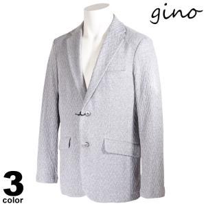gino ジーノ 長袖 ジャケット メンズ 2021春夏 衿付き 綿 ポケット付き ロゴ 11-4103-02|realtree
