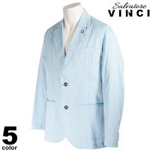 VINCCI ヴィンチ テーラードジャケット メンズ 2021春夏 ステッチ マリン イカリマーク ロゴ 11-4103-09|realtree