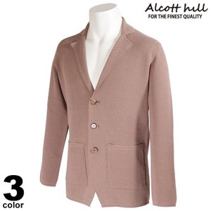 ALCOTT HILL アルコットヒル テーラードジャケット メンズ 2021春夏 コットン シンプル ロゴ 11-4107-10|realtree