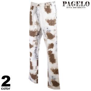 PAGELO パジェロ ロングパンツ メンズ 2021春夏 前ボタン 総柄 刺繍 ロゴ 11-5024-17n|realtree