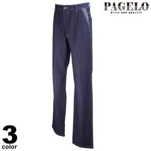 PAGELO パジェロ デニムパンツ メンズ 2021春夏 ステッチ 刺繍 前ボタン ロゴ 11-5101-07|realtree