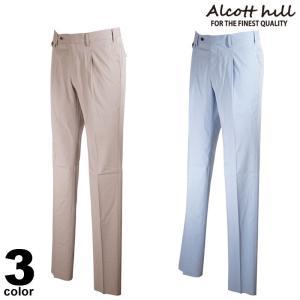ALCOTT HILL アルコットヒル ロングパンツ メンズ 2021春夏 前ボタン 後ろポケット ロゴ 11-5101-10|realtree