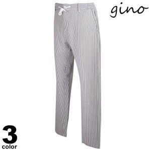 gino ジーノ ロングパンツ メンズ 2021春夏 ストライプ カジュアル ポケット ロゴ 11-5302-02|realtree