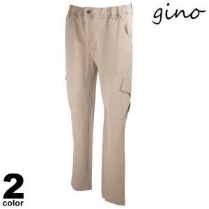 gino ジーノ ロングパンツ メンズ 2021春夏 前ボタン サイドポケット ロゴ 11-5303-02|realtree