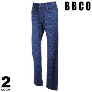 BBCO ビビコ デニムパンツ メンズ 2021春夏 総柄 ストレート ステッチ ロゴ 11-5305-01|realtree