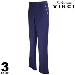 VINCCI ヴィンチ ロングパンツ メンズ 2021春夏 メッシュ ワッペン 前ボタン ロゴ 11-5307-09|realtree