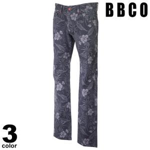 BBCO ビビコ デニムパンツ メンズ 2021春夏 総柄 ストレート 植物 ロゴ 11-5308-01n|realtree