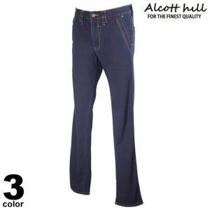 ALCOTT HILL アルコットヒル ロングパンツ メンズ 2021春夏 前ボタン デニム 刺繍 ロゴ 11-5308-10|realtree