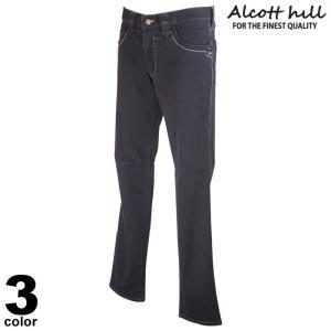 ALCOTT HILL アルコットヒル ロングパンツ メンズ 2021春夏 前ボタン デニム 刺繍 ロゴ 11-5309-10|realtree