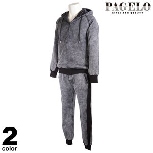 PAGELO パジェロ 上下セット メンズ 2021春夏 スウェット セットアップ リブ ロゴ 11-6101-06|realtree