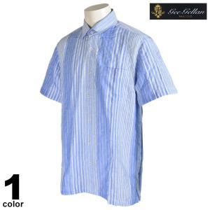 セール 70%OFF gee gellan ジーゲラン 長袖 カジュアルシャツ メンズ 春夏 コットン ストライプ ロゴ 2210-1532|realtree