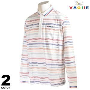 セール 70%OFF VAGIIE バジエ 長袖 ポロシャツ メンズ 春夏 ボーダー 刺繍 ロゴ 2220-2002|realtree