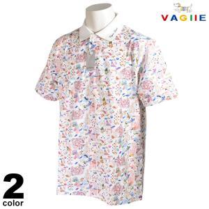 セール 70%OFF VAGIIE バジエ 半袖 ポロシャツ メンズ 春夏 総柄 プリント ロゴ 2220-2503|realtree