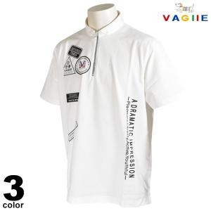 セール 70%OFF VAGIIE バジエ 半袖 ポロシャツ メンズ 春夏 ハーフジップ プリント ロゴ 2220-2528|realtree