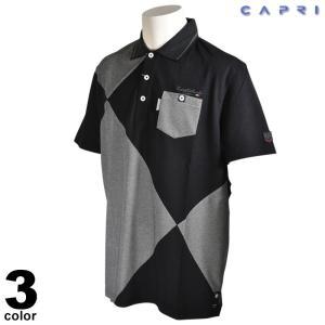 セール 80%OFF CAPRI カプリ 半袖 ポロシャツ メンズ 春夏 刺繍 胸ポケット ロゴ 2231-2536|realtree