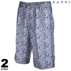 セール 80%OFF CAPRI カプリ ショートパンツ メンズ 春夏 総柄 ロゴ 2231-4502|realtree