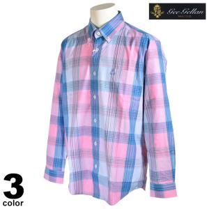 セール 70%OFF gee gellan ジーゲラン 長袖 カジュアルシャツ メンズ 春夏 チェック ボタンダウン ロゴ 3210-1003|realtree