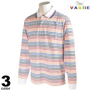 セール 70%OFF VAGIIE バジエ 長袖 ポロシャツ メンズ 春夏 ボーダー 鹿の子 ロゴ 3220-2041|realtree