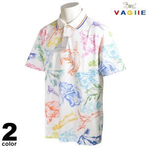 セール 70%OFF VAGIIE バジエ 半袖 ポロシャツ メンズ 春夏 総柄 プリント ロゴ 3220-2502|realtree