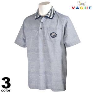 セール 70%OFF VAGIIE バジエ 半袖 ポロシャツ メンズ 春夏 ジャガード ワッペン ロゴ 3220-2504|realtree
