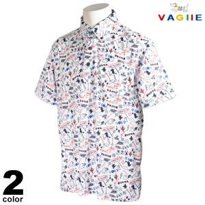 セール 70%OFF VAGIIE バジエ 半袖 ポロシャツ メンズ 春夏 総柄 プリント ロゴ 3220-2523|realtree