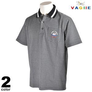 セール 70%OFF VAGIIE バジエ 半袖 ポロシャツ メンズ 春夏 刺繍 チェック ロゴ 3220-2525|realtree