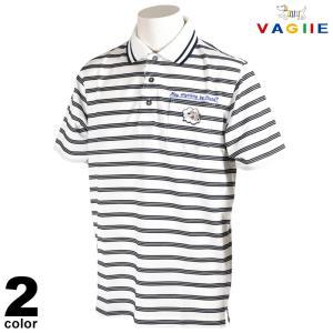 セール 70%OFF VAGIIE バジエ 半袖 ポロシャツ メンズ 春夏 ボーダー 刺繍 ロゴ 3220-2530|realtree