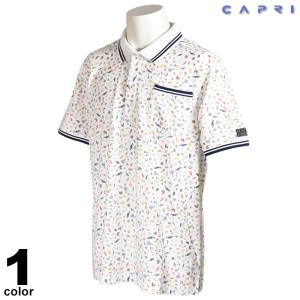 大きいサイズ  セール 80%OFF CAPRI カプリ 半袖 ポロシャツ メンズ 春夏 総柄 マリン ロゴ 3231-25321|realtree