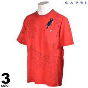 大きいサイズ セール 80%OFF CAPRI カプリ 半袖 カットソー メンズ 春夏 プリント 刺繍 ロゴ 3231-25831|realtree