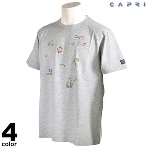 大きいサイズ セール 80%OFF CAPRI カプリ 半袖 カットソー メンズ 春夏 プリント クルーネック ロゴ 3231-25921|realtree