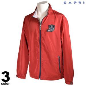 大きいサイズ セール 80%OFF CAPRI カプリ 長袖 ブルゾン メンズ 春夏 ジップアップ ワッペン ロゴ 3231-30041|realtree