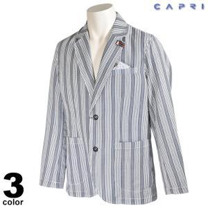 大きいサイズ セール 80%OFF CAPRI カプリ テーラードジャケット メンズ 春夏 ストライプ ロゴ 3231-60011|realtree