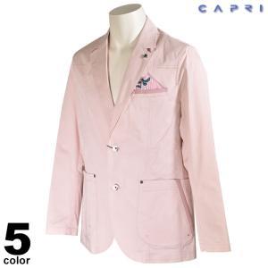 大きいサイズ セール 80%OFF CAPRI カプリ 長袖 テーラードジャケット メンズ 春夏 花柄 ステッチ ロゴ 3231-61011|realtree
