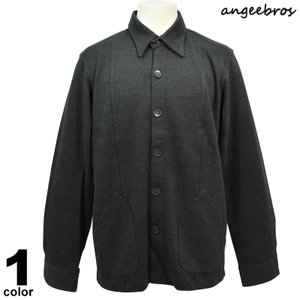 サンプル品 80%OFF ANGEE BROS アンジーブロス 厚手長袖シャツ ポケット付 シンプル 無地 65-3201-02s|realtree