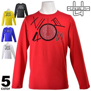 SALE 30%OFF ウザリス USUALIS 半袖Tシャツ メンズ 2019春夏 ストレッチ ラインストーン 91-1503-60|realtree